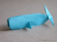 origami whale <3