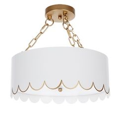 """155 Likes, 7 Comments - Parker Kennedy • The Cellar (@pklthecellar) on Instagram: """"#19 GLOSSY WHITE & GOLD SCALLOPED CEILING FIXTURE $325 plus $24 shipping. approx 15.5""""DIA X 15""""H.…"""""""