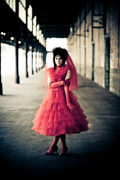 Lydia Deetz red wedding dress   Holiday: Halloween Costumes For Me ...