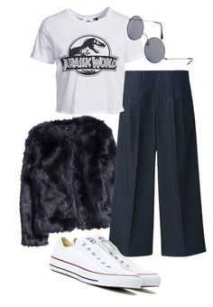 """""""Untitled #25"""" by missophiehopper on Polyvore featuring H&M, Uniqlo, Converse, New Look, MANGO, mango, ASOS, converse, furcoat and uniqlo"""