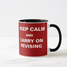 Student Revision Mug Funny Exams Keep Calm Quote - funny quotes fun personalize unique quote