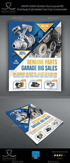 Buy Auto Parts Flyer Template by OWPictures on GraphicRiver. Flyer Description: Auto Parts Flyer Template designed for exclusively corporate and small scale companies. Flyer And Poster Design, Flyer Design, Layout Design, Print Design, Brochure Layout, Brochure Design, Brochure Ideas, Layout Template, Brochure Template