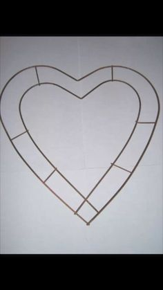 12inch Wire Heart Frame Wreath Florist Weddings Funerals Christmas Copper x10 | eBay