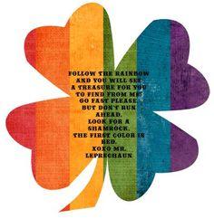{Leprechaun Treasure Hunt-Follow the Colors of the Rainbow   FREE DOWNLOADS}