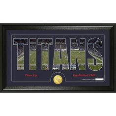 """Officially Licensed NFL """"Silhouette"""" Bronze Coin Panoramic Photo Mint - Tennessee Titans"""