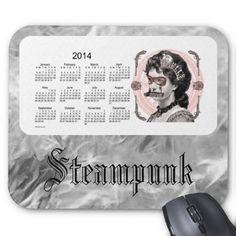 Steampunk 2014 Calendar Mouse Pad Design from Calendars by Janz $12.35