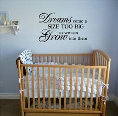 wall quote sticker, i want for baby's room