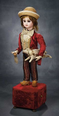 """""""The Voyage Continues"""" - Saturday, January 7, 2017: 92 Charming French Musical Automaton """"Peasant and His Piglet"""" by Roullet et Decamps"""