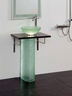 #wash #glassdesign #glassart #meltingglass #patternglass #scandinaviandesign #finnishdesign Recycling, Sink, Mirror Bathroom, Recycled Glass, Mirrors, Home Decor, Collection, Sink Tops, Vessel Sink