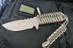 DSK TACTICAL BOTA - $219.99  PRODUCT DESCRIPTION 1/4 inch thick steel, coated with Para-cord wrapped handle and Kydex Sheath.  Overall length 8 inches blade 4 inches.