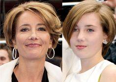 Sense And Sensibility: Emma Thompson and daughter Gaia have smart bobs