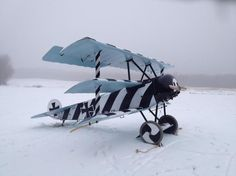 WWI warfighter Fokker dr.1. Snappy little bird.