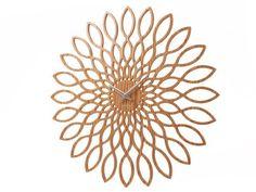 Karlsson Wanduhr Sunflower Wall Uhr Groß - Holz