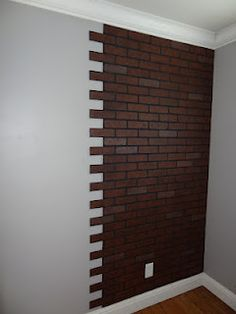 Faux Brick Wall....thinking of doing 1 wall in our house....don't want it to look fake though!