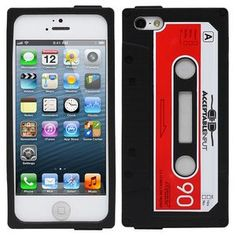 Fosmon JEL Series Silicone Cassette Case for Apple iPhone 5 - Black / Red - - Fosmon JEL Series Silicone Cassette Case for Apple iPhone 5 - Black/Red Personalize and protect your c Iphone 5 Cases, Iphone 5s, Phone Case, Apple Iphone 5, Logo Concept, Custom Embroidery, Mobile App, Cell Phone Accessories, Screen Printing