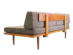 Our amazing, handcrafted mid-century modern style daybed/sofa is perfect for a small home, apartment, den or office. This sofa is part of our modular Classic system and can pair in any combination with our Classic Sectional, Classic Chair, and Ottoman. Add one of our signature coffee tables to round out a clean and stylish living room set. Remove the back cushions to reveal a perfect spare bed, making it a stylish and functional solution for a guest room or childs room. Handmade from solid…
