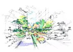 Landscape Architecture Drawing, Sketches, World, Drawings, Beautiful, Inspiration, Architecture, Biblical Inspiration, The World