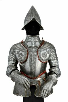 A North Italian Etched Light Cavalry Half-Armor. c. 1570.  From the Armory of Maximilian Ludwig Graf Breuner, Feldmarschall of the Holy Roman Empire, thence by descent to the Dukes von Ratibor at Schloss Grafeneff.  Provenance: The armory of Maximilian Ludwig Graf Breuner, created Feldmarschall of  the Holy Roman Empire in 1707.  Peter Finer.   http://www.peterfiner.com/