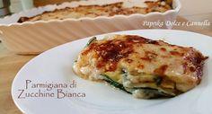 La Parmigiana di Zucchine Bianca è un piatto molto goloso, cremoso, saporito, che può essere reso più leggero cuocendo le zucchine alla piastra.