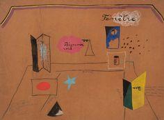 Joan Miró (1893-1983). Roméo et Juliette, Scene design, 1926. Charcoal crayon, pencil and tempera. Howard D. Rothchild Collection.