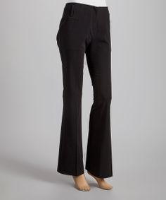 Black Flat Waistband Pants | Daily deals for moms, babies and kids