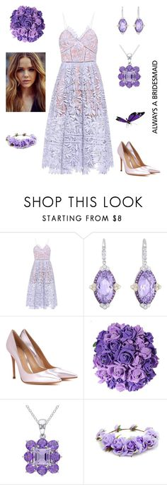 """""""Lovely"""" by kikikoji ❤ liked on Polyvore featuring self-portrait, Phillip Gavriel, Gianvito Rossi, Amour and Forever 21"""