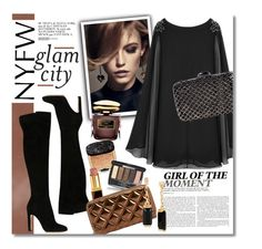 """Glam Them"" by clovers-mind on Polyvore featuring Givenchy, By Terry, Gianvito Rossi, Chanel, Marc Jacobs, Kenneth Cole, Clara Kasavina, StreetStyle, party and glamrock"
