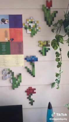 Minecraft Room Decor, Minecraft Wall, Minecraft Crafts, Minecraft Designs, Diy Minecraft Decorations, Boys Minecraft Bedroom, Indie Room Decor, Cute Room Decor, Aesthetic Room Decor
