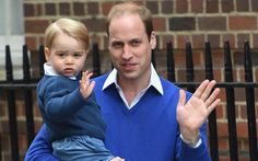 Prince George arrives at the hospital to visit his baby sister! #CuteWave #PrincessCharlotteElizabethDiana