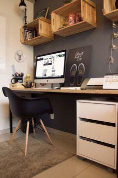 33 coole Teenager Boy Room Decor Ideen - Arbeitsplatz Home Office - Home Office Design, Home Office Decor, Home Design, Diy Home Decor, Office Ideas, Design Ideas, Office Designs, Interior Design, Wall Design
