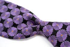 """IKE BEHAR Purple Medalian Woven 100% Silk Skinny Mens Tie - 3.25"""" #IkeBehar #NeckTie"""