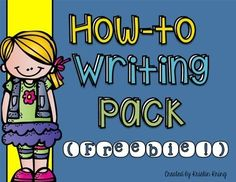 FREE!! This packet includes everything you might want to include in a how-to writing booklet for your students! Just print the pages you need, staple them together, and you will be all set for writing time. And the best part is... it's free! :)