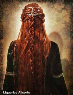 Keltisch meisje met prachtige rode haren