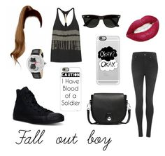 """Fall out boy"" by nadita-mels ❤ liked on Polyvore featuring Converse, Cheap Monday, rag & bone, Raquel Allegra, Betsey Johnson, Casetify and Ray-Ban"