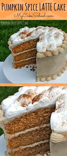 This Pumpkin Spice Latte Cake is AMAZING! Moist, flavorful, and perfect for fall gatherings! A fabulous blend of pumpkin, spices, and espresso!