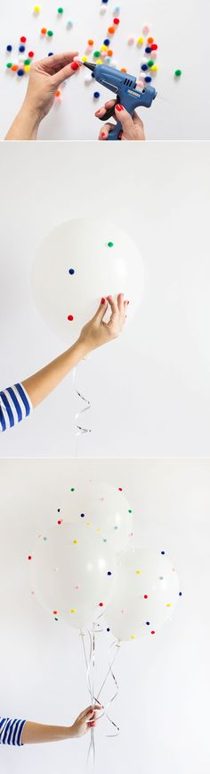 How to make DIY Pom Pom Balloons