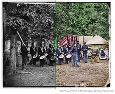 In The Civil War in Color: A Photographic Reenactment of the War Between the States, Guntzeman tediously colorized hundreds of photos covering every aspect of the war.