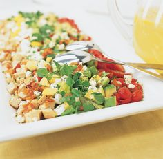 Use a traditional dressing in a nontraditional way to improve the flavors in this classic American salad. Appetizer Recipes, Salad Recipes, Appetizers, Green Salad Dressing, Cooks Illustrated Recipes, Clean Eating Salads, Soup And Salad, Tasty Dishes, My Favorite Food