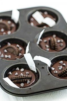Tortine al #cioccolato senza forno - #No-bake (delicious) #chocolate mini #tart