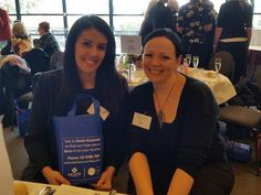 Our Beck Cornish and the lovely Beckii Jones from Indigo Whispers at the Women's Connect Luncheon - Sept 2015.