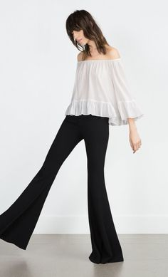 A flowy boat neck blouse ($50) that can be worn from day to night.