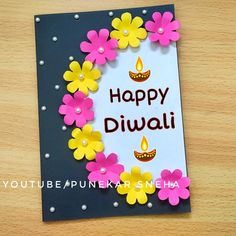 Diwali Card Making Competition easy | Diwali Card drawing Easy | Diwali Card Ideas | By Punekar Sneh Diya Decoration Ideas, Diwali Decorations, Diwali Diya, Diwali Craft, Card Making Competition, Diwali Card Making, Card Drawing, Happy Diwali, Easy Drawings