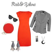"""red&zebra"" by s-mihlik on Polyvore featuring мода, Boutique Moschino, City Chic, Zimmermann, Eddie Borgo и Smoke x Mirrors"