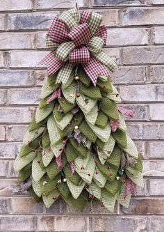 This stunning DIY holiday/Christmas tree wreath is the perfect holiday decor item! Completely designed by Tressa Hissam using the Unique in the Creek triangle wreath board, this gorgeous DIY holiday tree wreath won't last long! Mesh Christmas Tree, Holiday Tree, Holiday Wreaths, Christmas Holidays, Christmas Decorations, Christmas Ornaments, Holiday Decor, Rustic Christmas, Recycled Christmas Tree