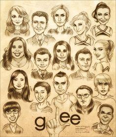Glee... Ew mike looks like a girl