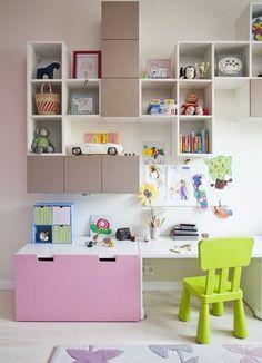 IKEA stuva Bedroom For Girls Kids, Cool Kids Bedrooms, Kids Bedroom Designs, Ikea Eket, Ikea Stuva, Ikea Kids Playroom, Playroom Ideas, Chambre Nolan, Kid Spaces