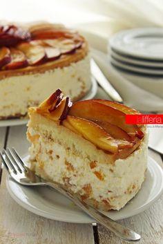 Peach cake and ricotta - Torta alle pesche e ricotta, facile e fresca