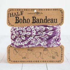 Natural Life Half Boho Bandeau Purple