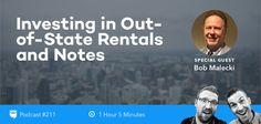 What's the best way to invest in real estate when the numbers don't make sense in your backyard? Today on the BiggerPockets Podcast, we sit down with Bob Malecki, an investor who started by purchasing local rental properties, but quickly shifted gears into two other niches: out of state rentals and mortgage notes.