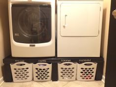 Simple laundry pedestal